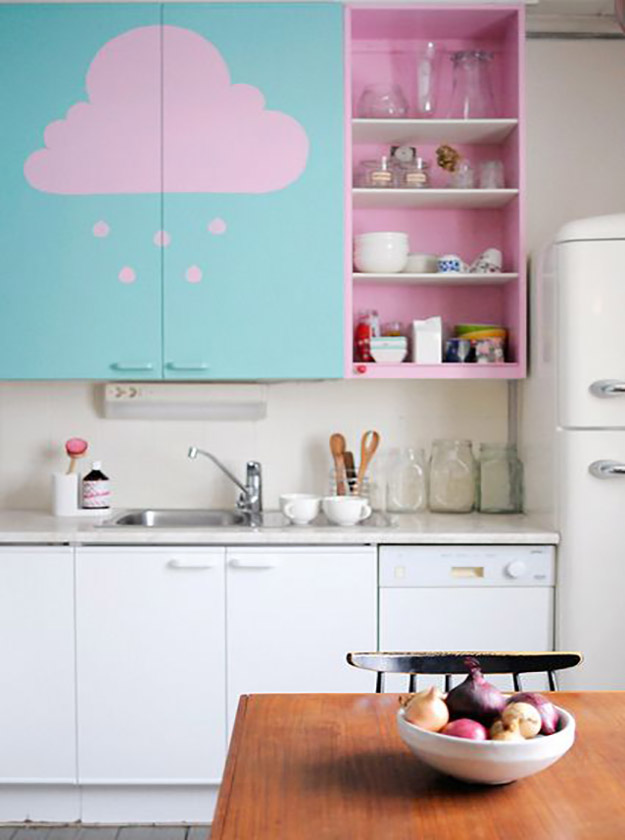 Кухни идеи в пастельных тонах