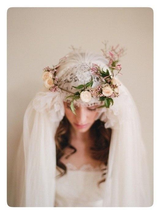 украшение невесты, свадебная шляпка