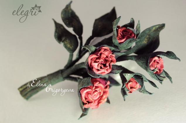 цветы из кожи, обучение цветоделию, купить брошь