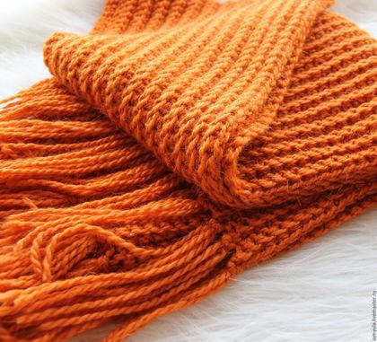 Как связать шерстяной шарф