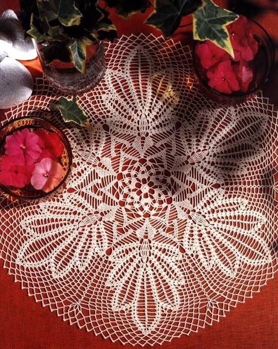 esquemas de servilletas de ganchillo con hermosa