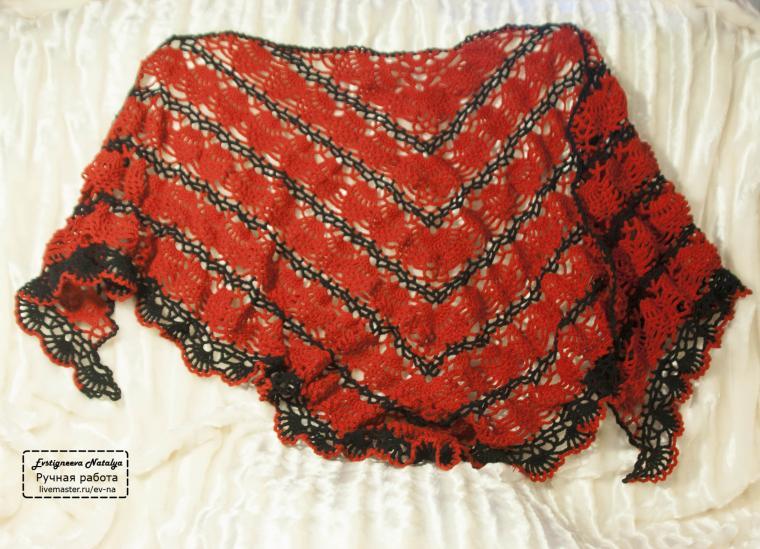 вязание крючком, платок