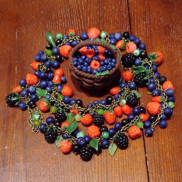 лепим ягоды, украшения своими руками