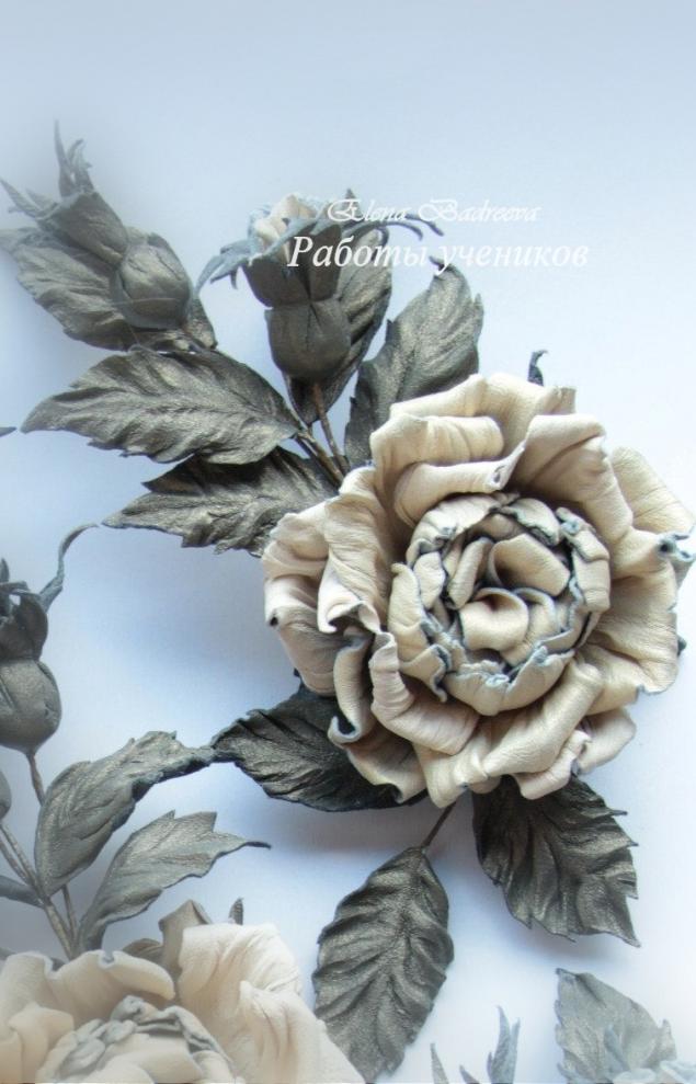 мастер-класс, обучение цветоделию, флористика, кожаные цветы, елена бадреева