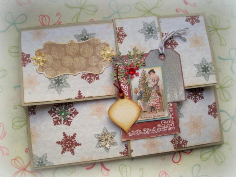 мастер-класс по скрапу, конверт, подарок на новый год, конверт для писем, открытка