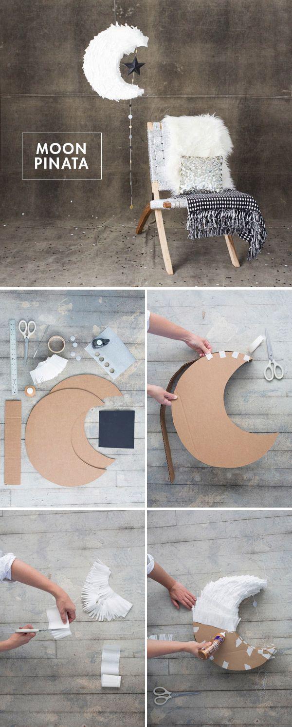 Луна из картона своими руками