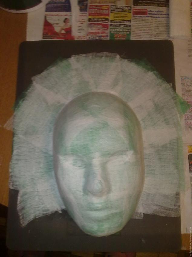 Изготовление венецианской маски с перьями.Техника папье-маше., фото № 3