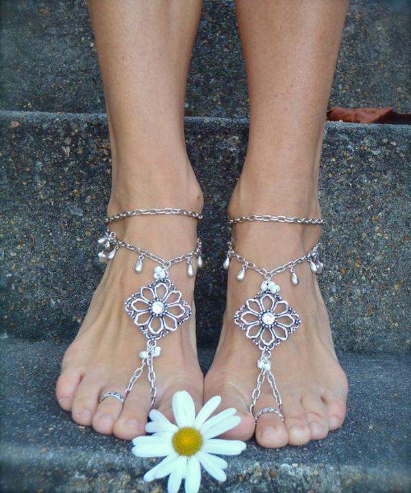 Как сделать украшения на ногу