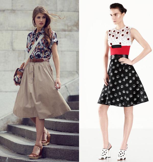 Модные юбки весна лето 2014 в стиле ретро