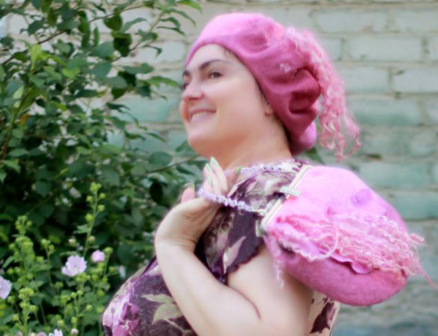 сумка ручной работы, розовый