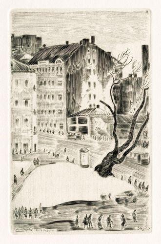 Черно-белая графика знаменитых художников, фото № 50