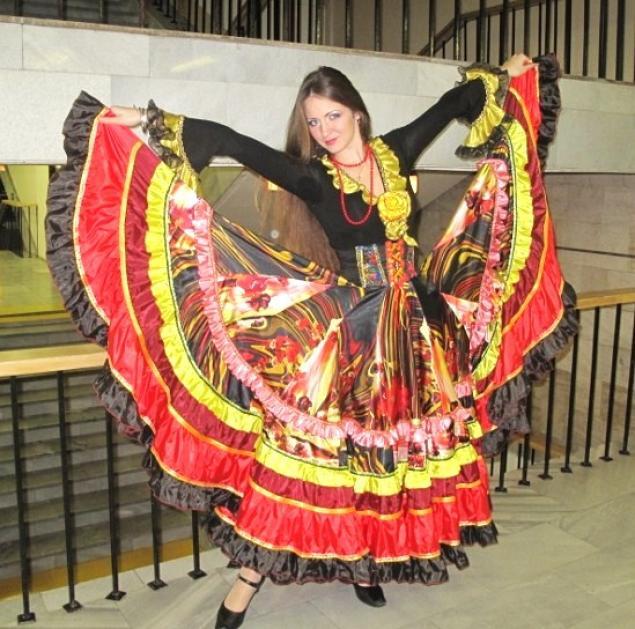 Цыганская юбка своими руками фото
