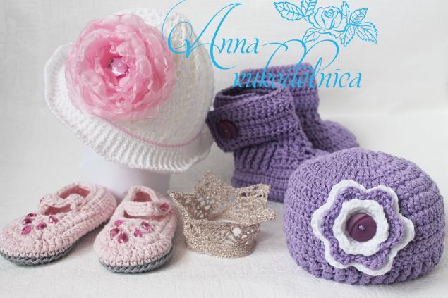 весна 2014, весна, весна-лето 2014, лето 2014, пинетки, шапочка, подарок на день рождения, подарок ребенку, подарок девочке