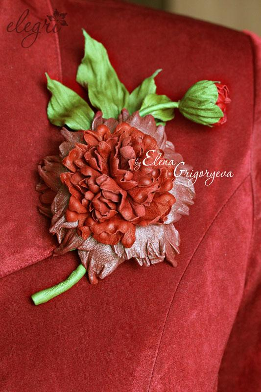 цветы из замши, купить розу