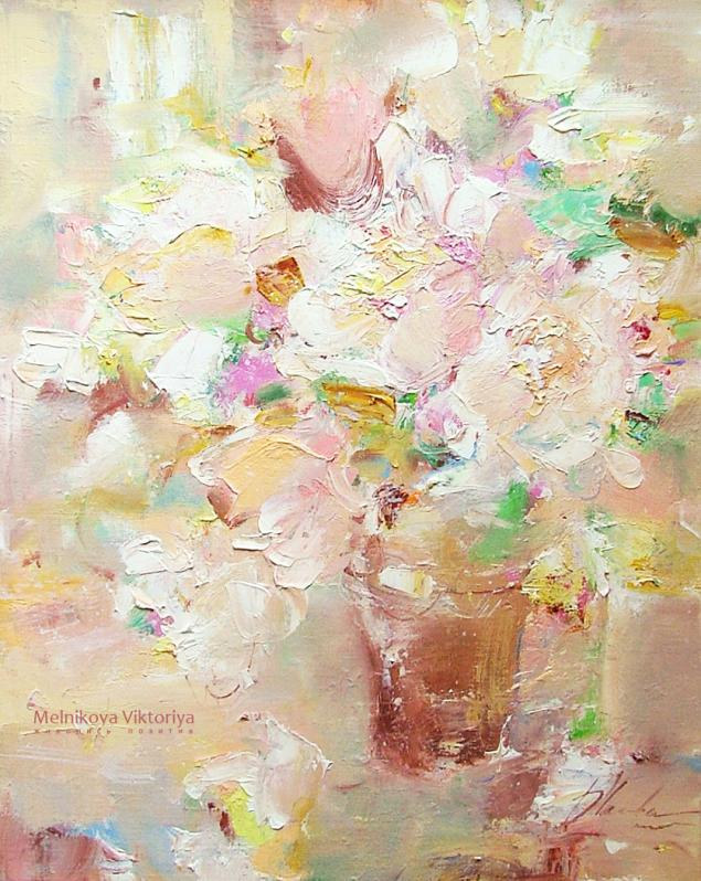 картина с пионами, картина в подарок, картина в детскую, картина со скидкой, белый, лето 2014
