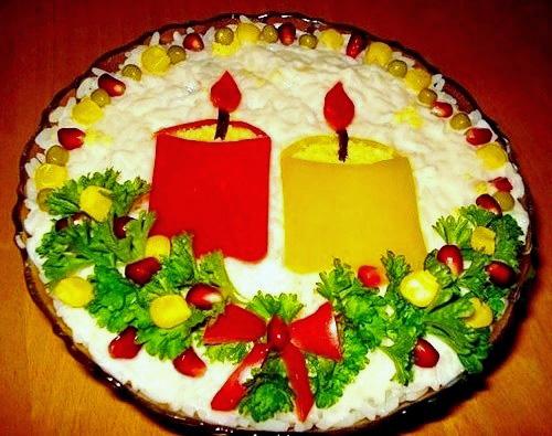 Красивые и вкусные салаты на новый год рецепты