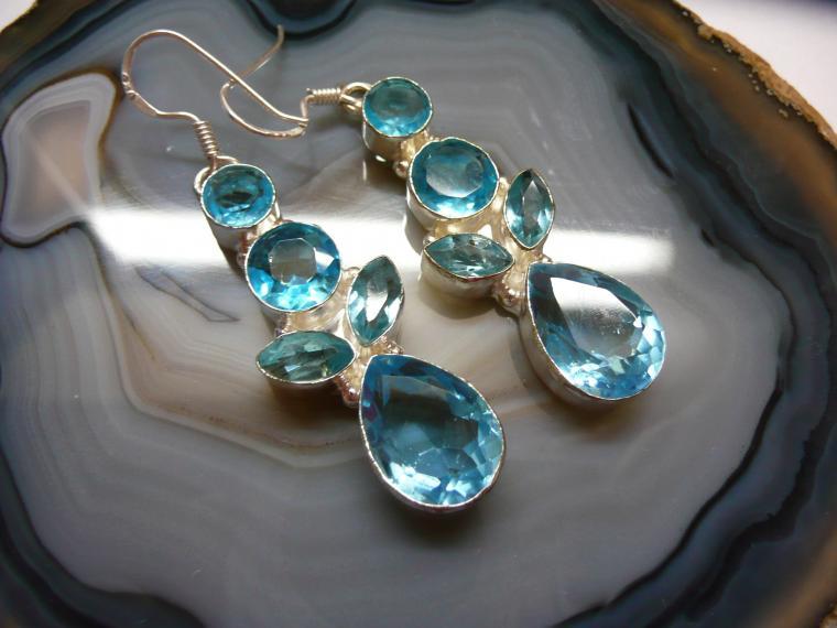 топаз, коллекция, серебряные кольца, скидки, кольцо с голубым топазом