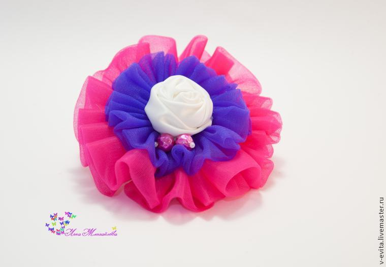Делаем цветочек — текстильное украшение для волос, фото № 14
