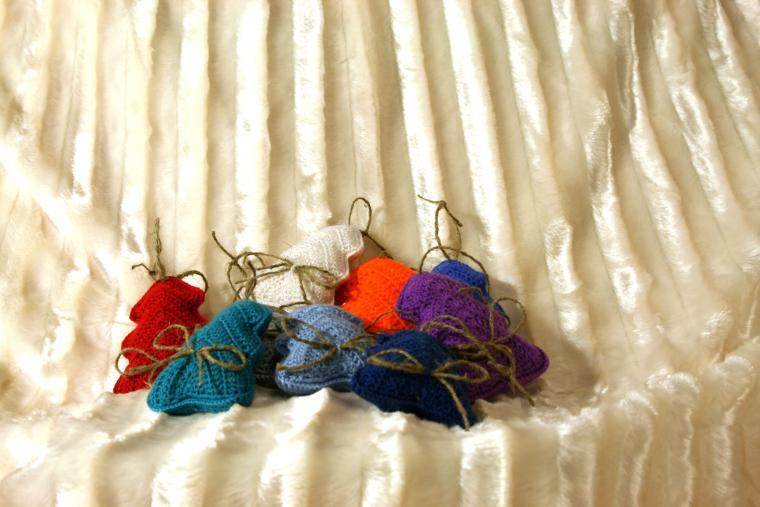 вязанные елочки на новый год ярмарка мастеров