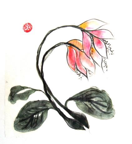 китайская акварел