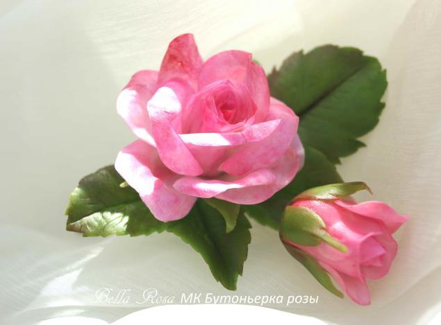 лепка цветов, белла роза