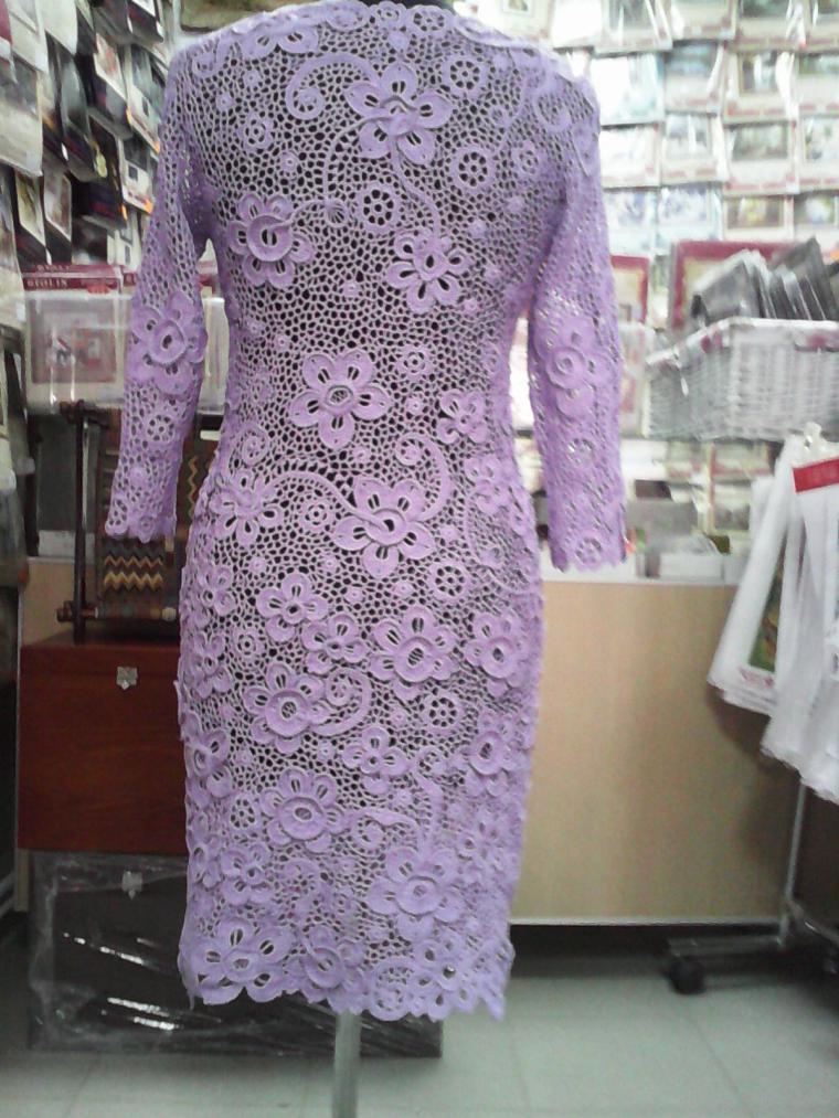 вязание, вязаное платье, вязаная одежда, платье вязаное, ажурный