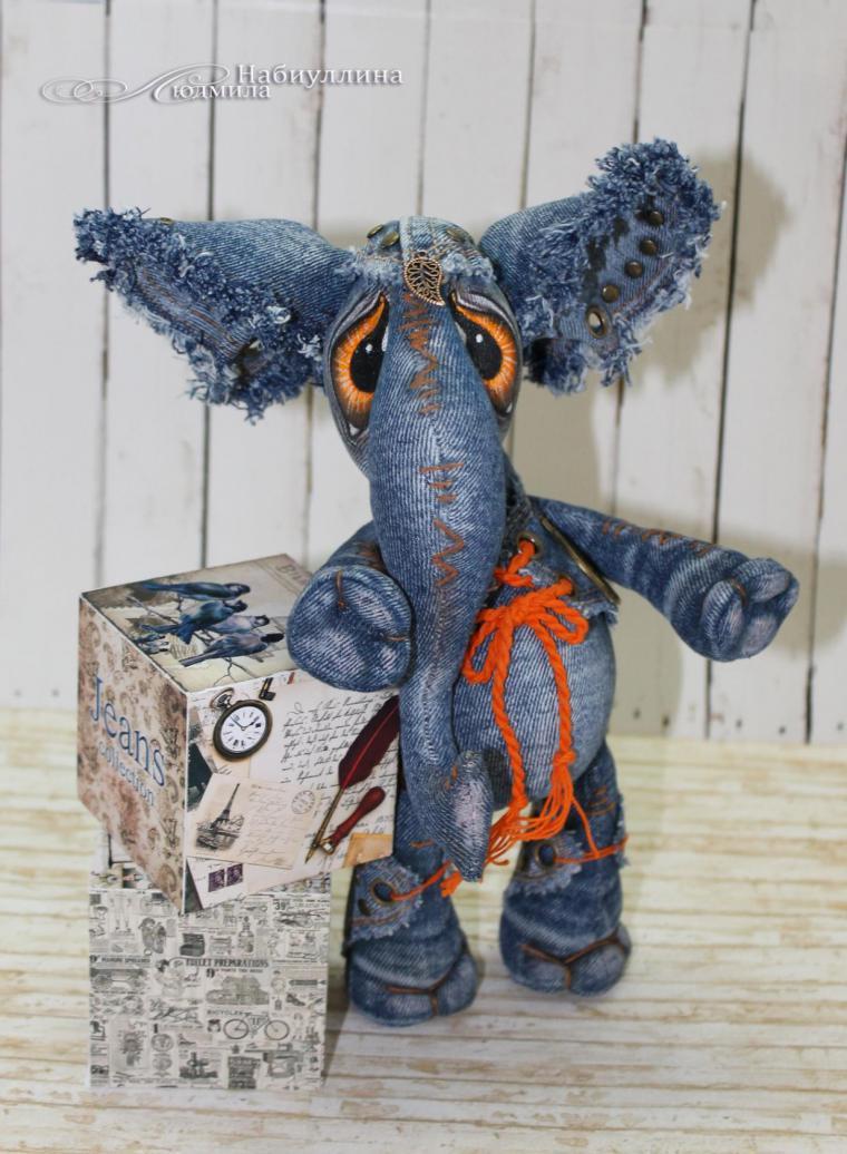 Джинсовый слон выкройка