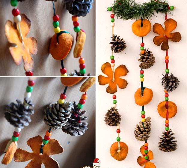 Декор из апельсинов на новый год