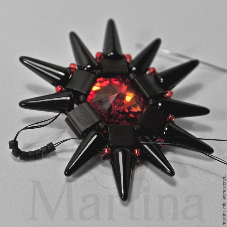 Серьги «Огненная звезда»