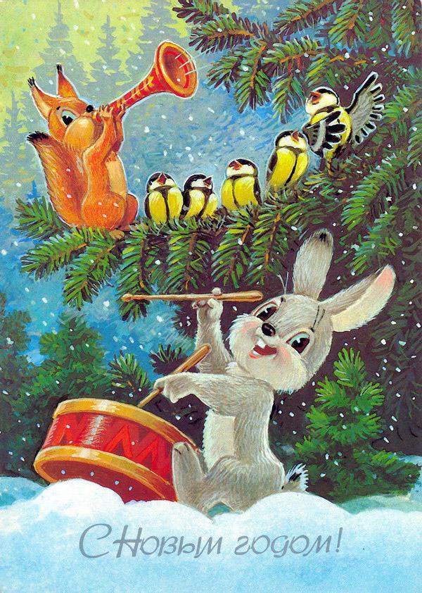 Добрые советские открытки. С Новым годом!, фото № 5