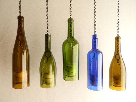 Идеи использования винных бутылок.