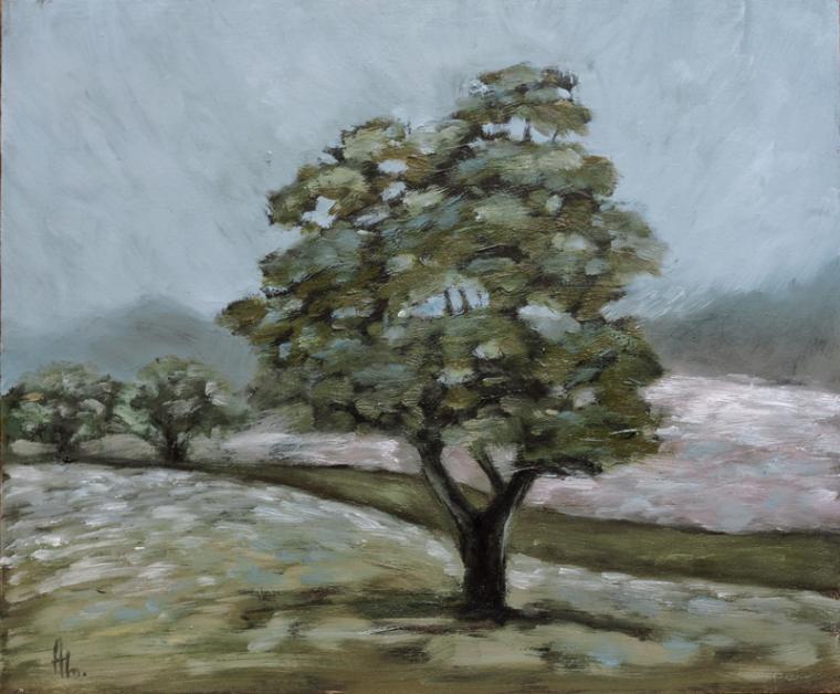 новая картина, лето, масло, дерево, пейзаж, живопись