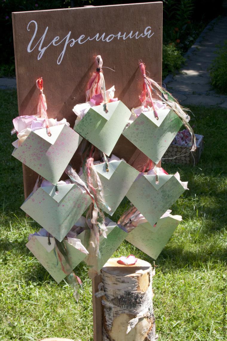 Делаем свадебные кулечки для лепестков, фото № 47
