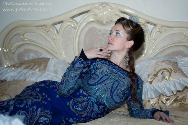 дизайнерская одежда, платье из платка