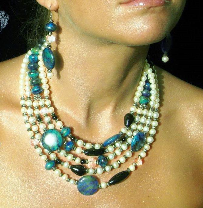 Ожерелье из натурального камня своими руками