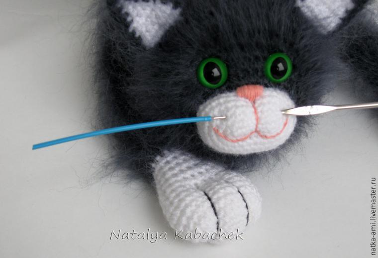 Вязанные мордочки кота