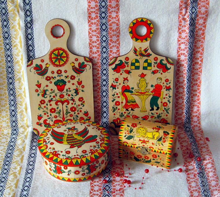 пермагорская роспись, роспись по дереву, северодвинская роспись