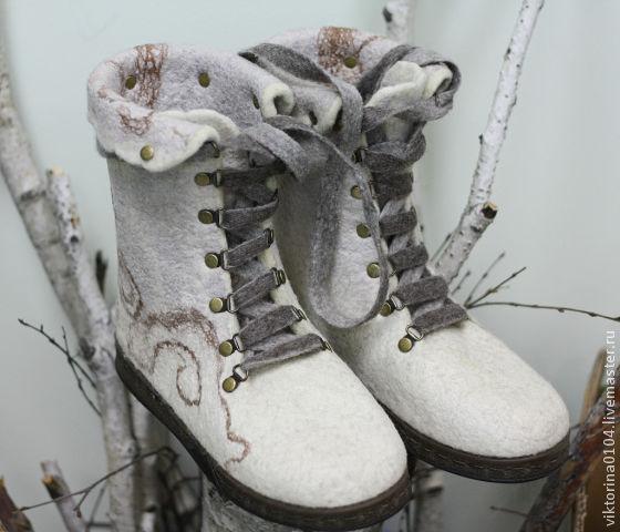 валяние из шерсти, мокрое валяние, обувь ручной работы