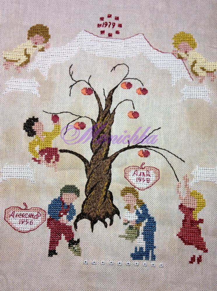 вышивка, дерево