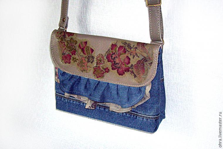 5af22a31eb01 Шьем сумочку из старых джинсов или любой ткани – мастер-класс для  начинающих и профессионалов