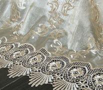Шторы в стиле прованс украшенные вышивкой