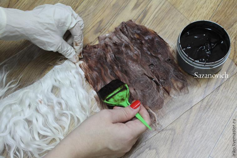 Clase magistral de creación y coloración de tramas para muñecas, foto No. 15