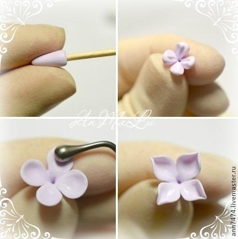 Мастер класс цветы из полимерной глины своими руками