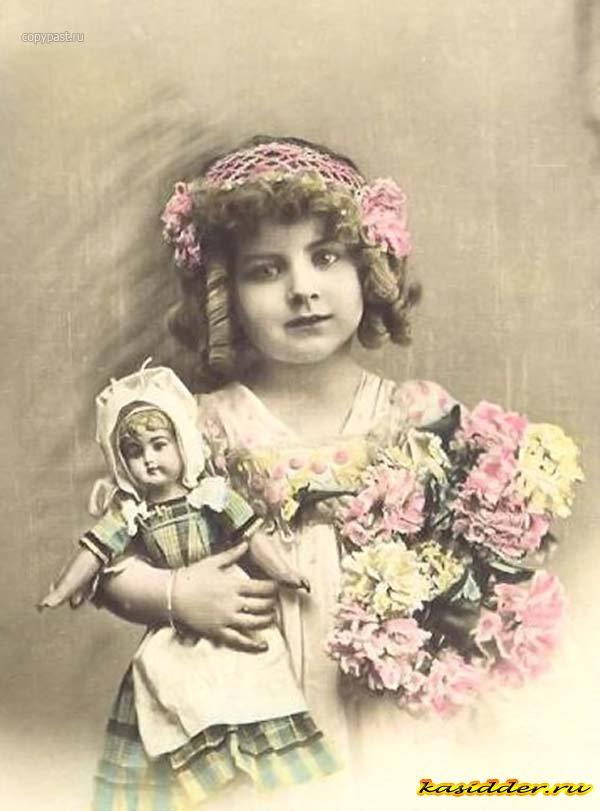 Детские фотографии из открыток