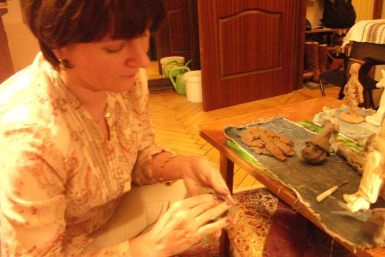 занятия с детьми, природная глина