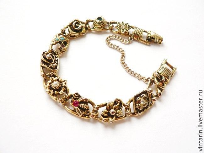 винтажный браслет, sarah coventry