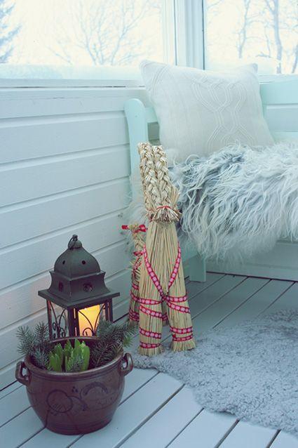 Coziness...Norweigian Julbock  Christmas goat