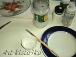 декорируем тарелку