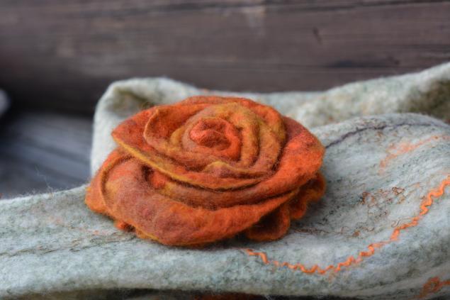 мастер-класс, мастер-класс по валянию, мк, мк по валянию, валяние, войлок, войлочный цветок, валяный цветок, войлочная брошь, как свалять розу, как свалять цветок, как свалять, брошь-цветок, брошь-роза, роза, клара ру