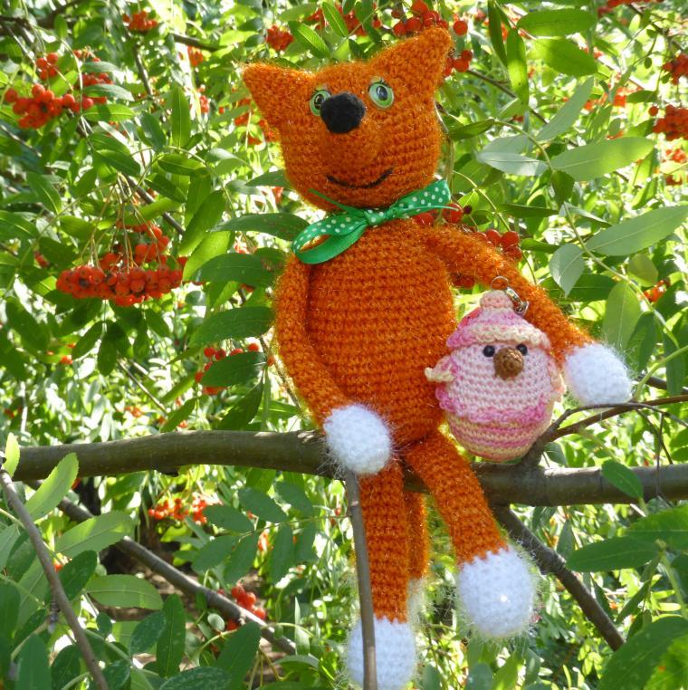 осень, осенний, рыжий, лиса, лис, лисенок, лисичка, игрушки ручной работы, вязание крючком, вязаная игрушка, любовь, цыпленок, подарки, подарок, оранжевый, позитив, коллекция